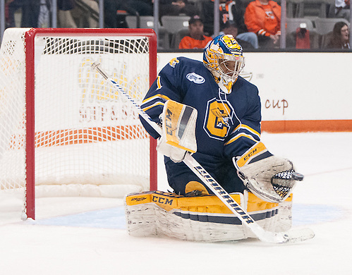 Charles Williams (1 - Canisius) had 45 saves in a 3-1 win at RIT (Omar Phillips)
