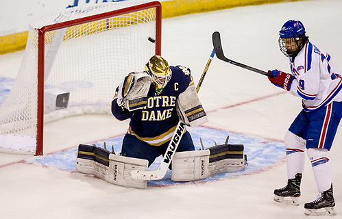 MANCHESTER, NH - MARCH 26: UMass-Lowell plays Notre Dame during the NCAA Division I Men's Ice Hockey Northeast Regional Championship final at the SNHU Arena on March 26, 2017 in Manchester, New Hampshire. (Photo by Richard T Gagnon) (Richard T. Gagnon)
