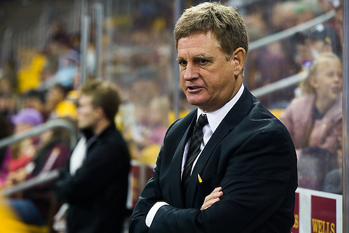 01 Oct 16:  Mel Pearson (Michigan Tech - Head Coach). The University of Minnesota Duluth Bulldogs host the Michigan Technological University Huskies in a non-conference matchup at Amsoil Arena in Duluth, MN. (Jim Rosvold/USCHO.com)