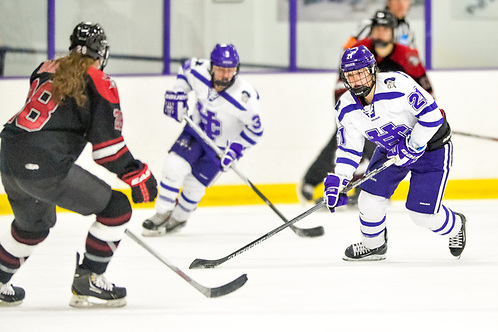 Julie Matthias of Holy Cross. She will be a senior when Holy Cross starts play in Hockey East. (Mark Seliger)
