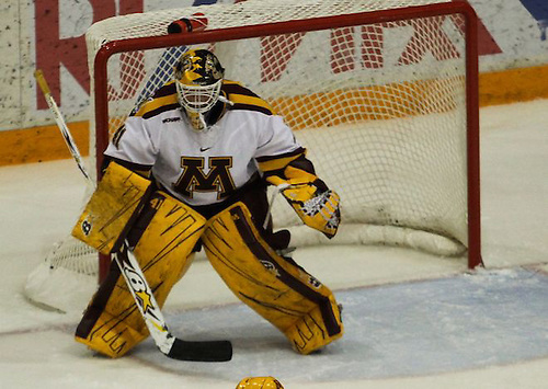 Noora R?ty secured her NCAA-record 101st victory and 37th career shutout in the Gophers 6-0 rout of Minnesota-Duluth on February 1, 2013 at Ridder Arena. ...Unauthorized reproduction of d3photography.com photos is strictly forbidden (resale, reproduction);.use in advertising (for profit or at a loss) is a violation of the Student-Athlete's eligibility to compete...NCAA Bylaw 12.5.2.2 - Use of a Student-Athlete's Name or Picture Without Knowledge or Permission..If a student-athlete's name or picture appears on commercial items (e.g., T-shirts, sweatshirts, serving trays, playing cards, posters) or is used to promote a commercial product sold by an individual or agency without the student-athlete's knowledge or permission, the student-athlete (or the institution acting on behalf of the student-athlete) is required to take steps to stop such an activity in order to retain his or her eligibility for intercollegiate athletics. Such steps are not required in cases in which a student-athlete's photograph is sold by an individual or agency (e.g., private photographer, news agency) for private use. (Revised: 1/11/97, 5/12/05) (Ryan Coleman/Ryan Coleman, d3photography.com)