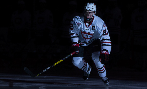 Jimmy Schuldt (SCSU-22) 16 October 28 Alabama Huntsville and St. Cloud State University meet in a non conference contest at the Herb Brooks National Hockey Center (Bradley K. Olson)