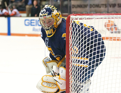 Simon Hofley (31 - Canisius) had 38 saves in a 4-3 loss at RIT (Omar Phillips)
