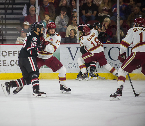 St. Cloud State at Denver, Magness Arena, 11/11/17. (Candace Horgan)