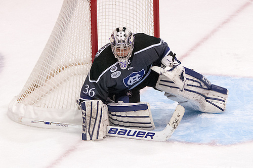 Paul Berrafato (36 - Holy Cross) had 27 saves in a 4-0 win at RIT (Omar Phillips)