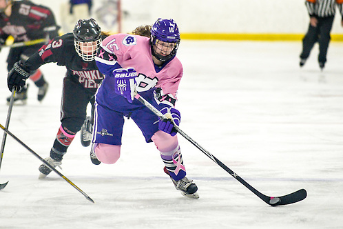 Kara Violette of Holy Cross, one of the tri-captains. (Mark Seliger)