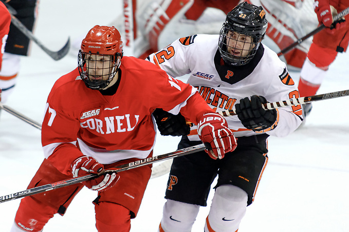 Anthony Angello (Cornell - 17) and Ben Foster (Princeton - 22) battle for position. ((c) Shelley M. Szwast 2016)