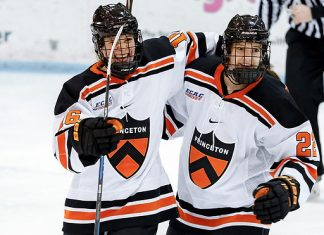 Sarah Fillier (L) and Maggie Connors (R) of Princeton (Princeton Athletics)
