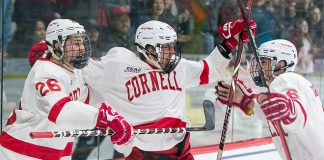 Tristan Mullin (26 - Cornell), Kyle Betts (11 - Cornell), Alex Green (6 - Cornell) (Omar Phillips 2017)